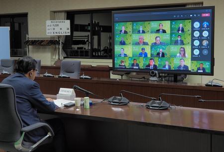 6/4(金)APEC貿易担当大臣とAPECビジネス諮問委員会(ABAC)との対話がテレビ会議形式で開催。