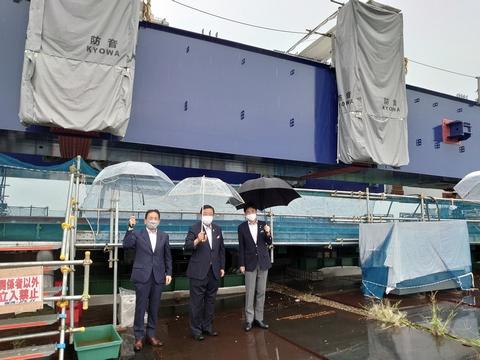 8/12(木)新濃尾大橋架橋促進期成同盟会総会に出席し、現地を視察。