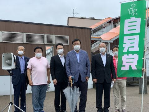 7/6(月)名鉄勝幡駅で街頭活動