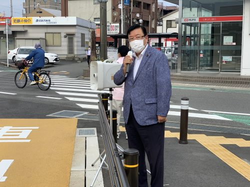 7/20(月)近鉄蟹江駅で街頭活動