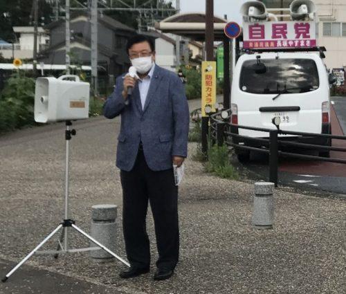 7/27(火)甚目寺駅で街頭活動