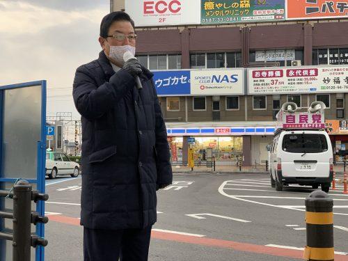 1/5(火)国府宮駅で街頭活動