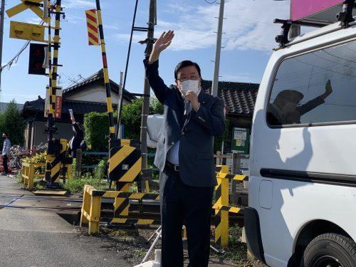 6/21(月)名鉄玉野駅で街頭活動