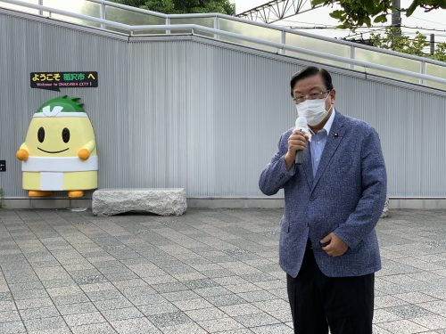 8/7(金)JR稲沢駅で街頭活動